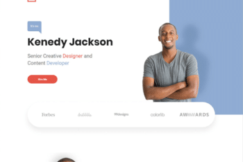 Free Simple Personal Website HTML Template