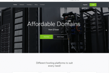 Free Affordable Web Hosting HTML Template
