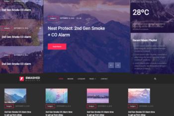 Free Online Dark Magazine HTML Template