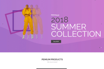 Free Online Fashion Store HTML Template