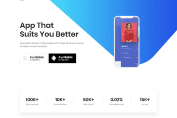 Free App Landing Page HTML Template