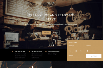Free Relaxing Coffee Place HTML Template
