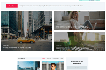 Free Modern News Website HTML Template