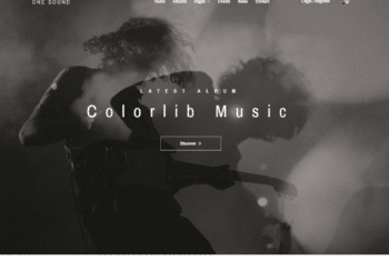 Free Music Band Website HTML Template