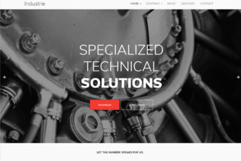 Free Industrial Works Website HTML Template