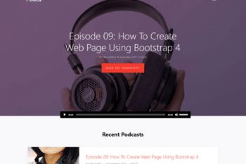 Free Simple Podcast Website HTML Template