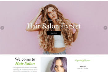 Free Hair Salon Expert HTML Template