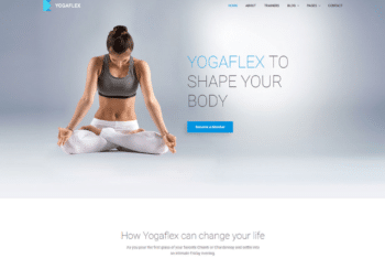 Free Yoga Workout Website HTML Template