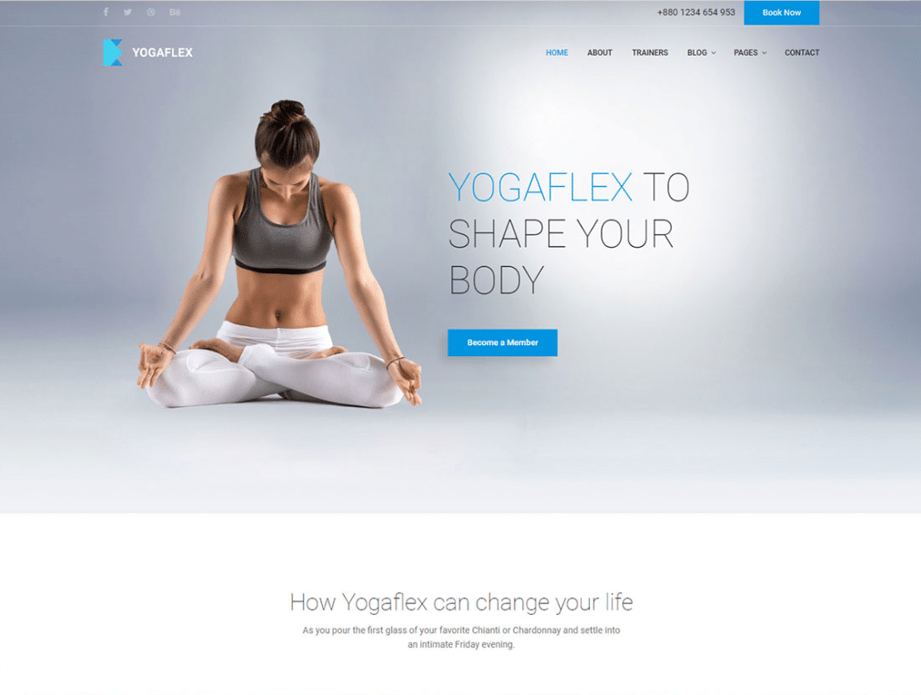 Yoga Workout Website