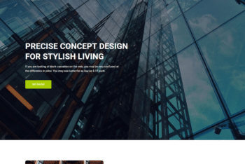 Free Modern Architecture Website HTML Template