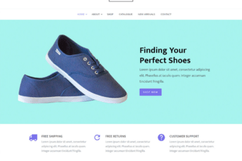 Free Shoe Store Website HTML Template