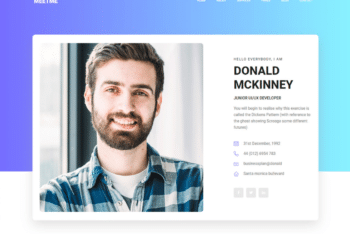 Free Modern Curriculum Vitae HTML Template