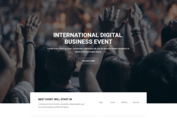 Free Business Event Website HTML Template