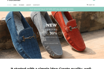 Free Footwear Online Store HTML Template