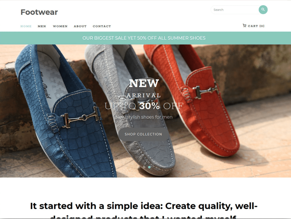 Footwear Online Store