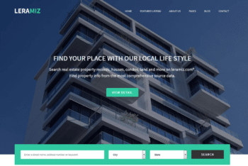 Free Modern Real Estate Website HTML Template