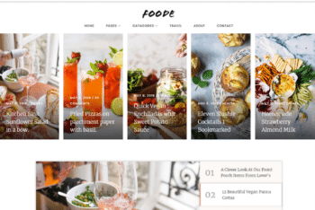 Free Tasty Foodie Website HTML Template