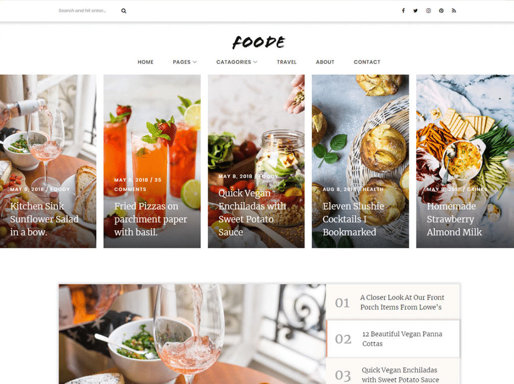 Tasty Foodie Website
