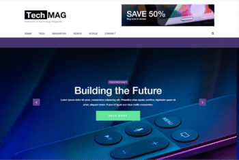 Free Technological Devices Website HTML Template