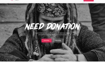 Free Dramatic Donation Website HTML Template