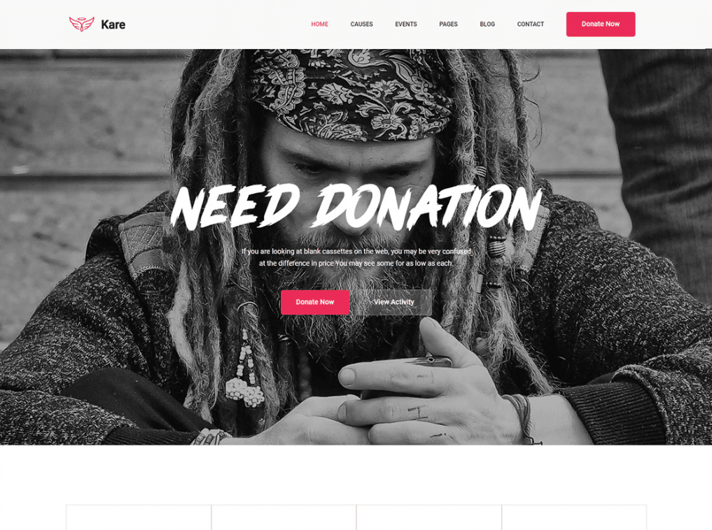 Dramatic Donation Website