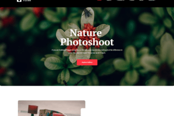 Free Beautiful Nature Photography HTML Template