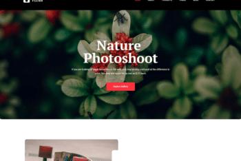 Free Beautiful Nature Photography HTML Template