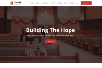 Free Church Organization Website HTML Template