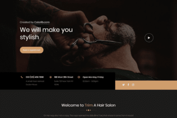 Free Stylish Barber Shop HTML Template