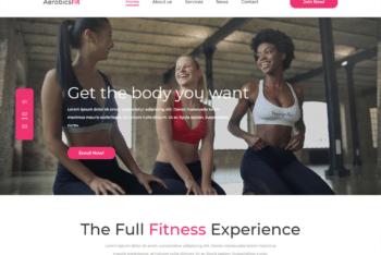 Free Aerobics Fitness Regime HTML Template