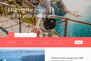Free Holiday Destinations Website HTML Template