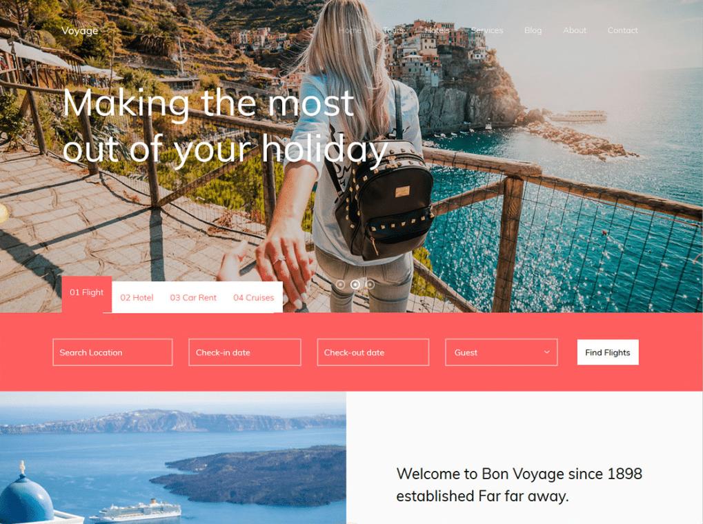 Holiday Destinations Website