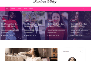 Free Sophisticated Female Blog HTML Template