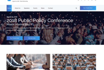 Free Business Conference Website HTML Template