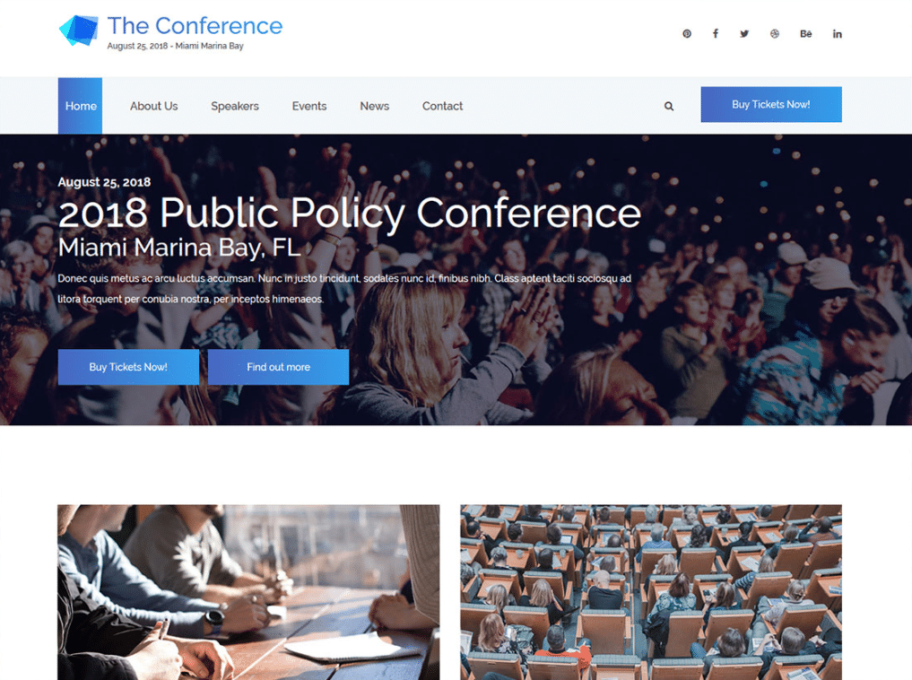 Business Conference Website