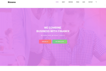 Free Financial Agency Website HTML Template