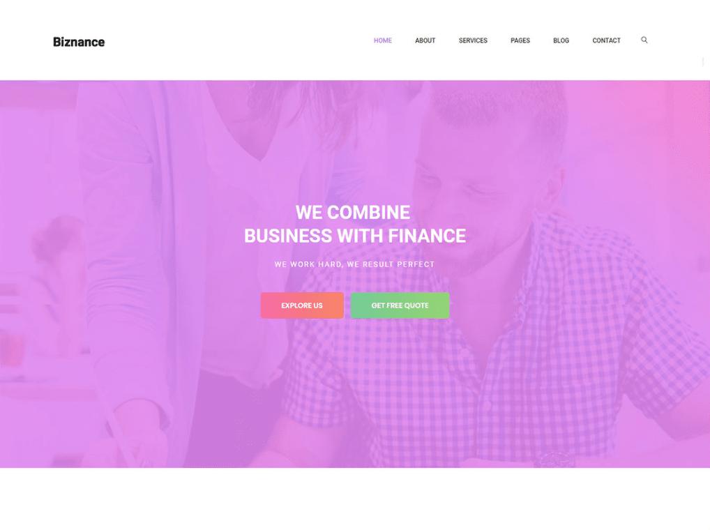 Financial Agency Website