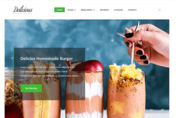 Free Dessert Bar Website HTML Template