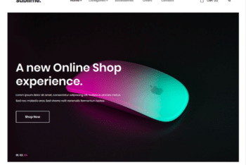 Free Online Electronic Store HTML Template