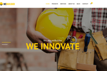Free Online Construction Service HTML Template