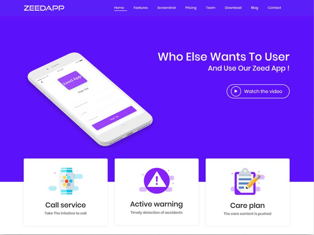 Phone App Landing Page