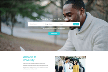 Free University Education Assistance HTML Template