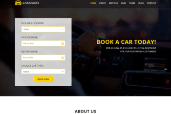 Free Car Booking Website HTML Template