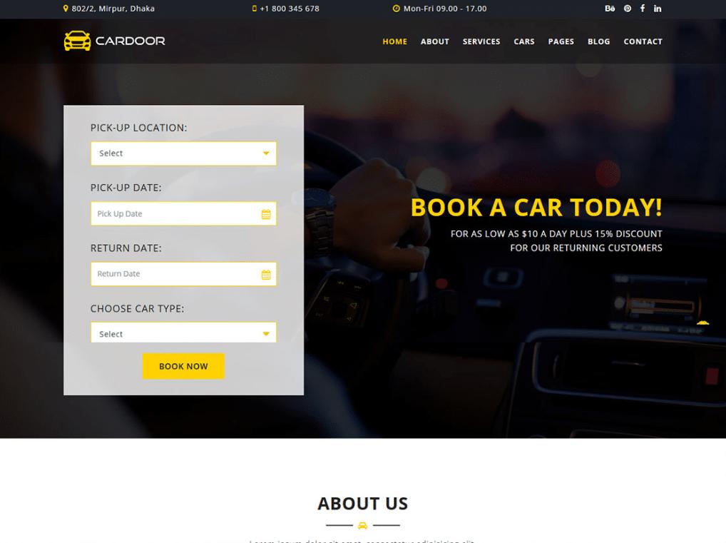 Car Booking Website