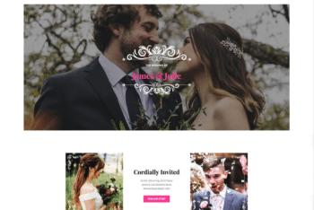 Free Online Wedding Services HTML Template