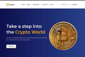 Free Online Cryptocurrency Platform HTML Template