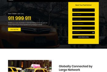 Free Online Taxi Service HTML Template