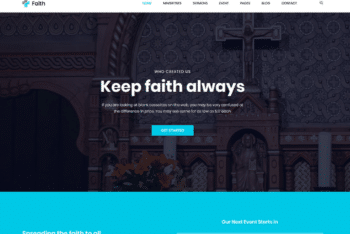 Free Christian Church Organization HTML Template