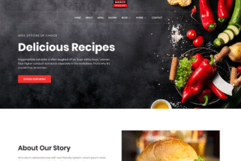 Free Chef Restaurant Website HTML Template