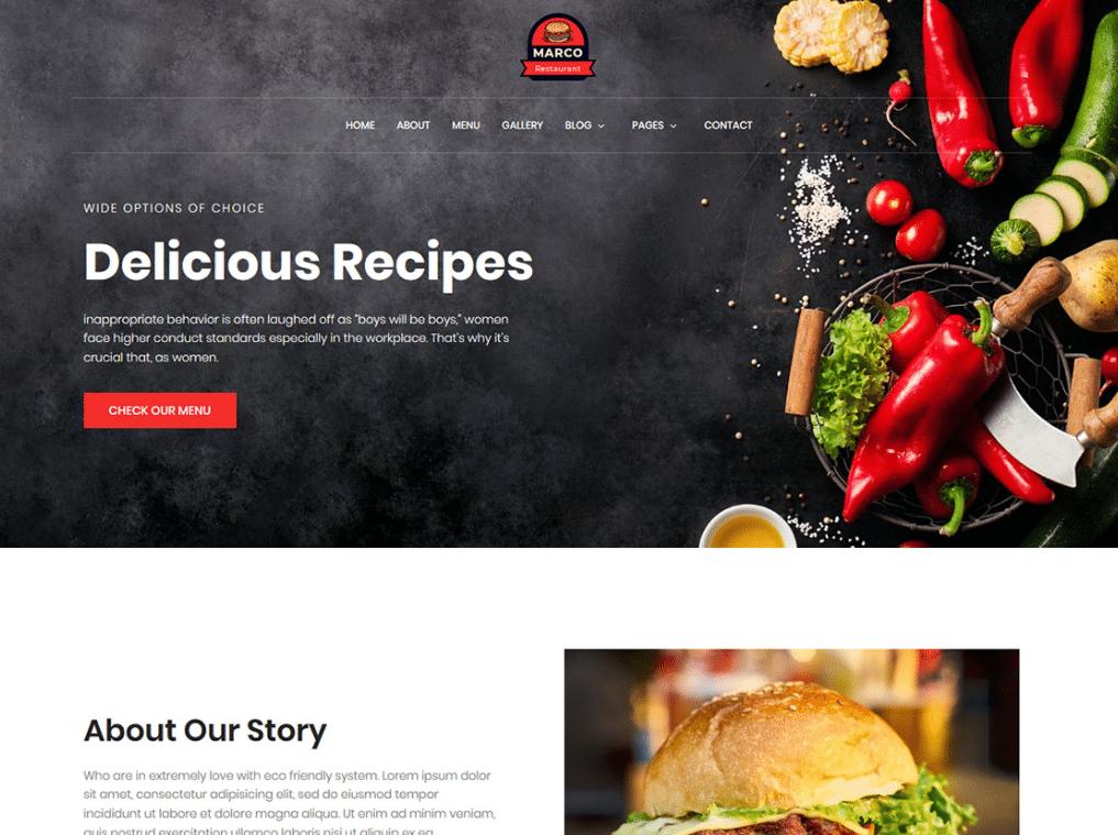 Chef Restaurant Website